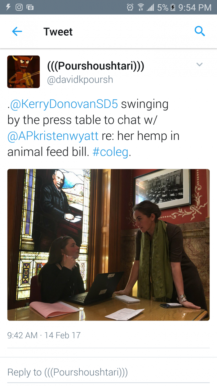 Kerry Donovan and AG Press Reporter